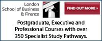 Post Grad Courses at London School of Business & Finance
